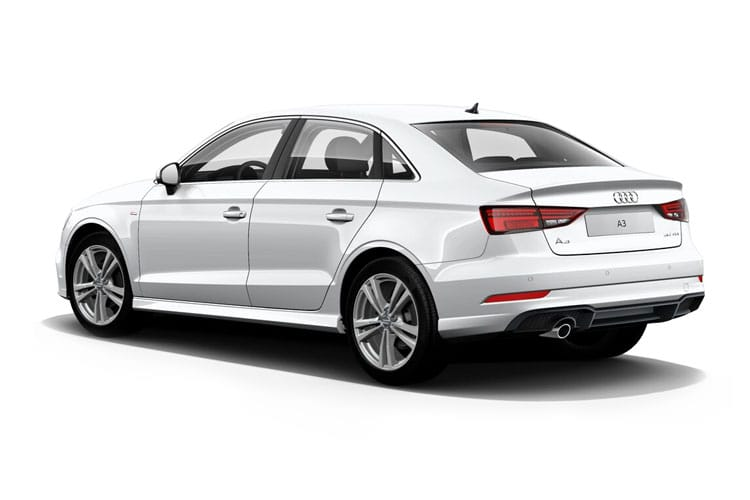 Audi A3 40 Saloon quattro 4Dr 2.0 TDI 200PS S line 4Dr S Tronic [Start Stop] [Comfort Sound] back view