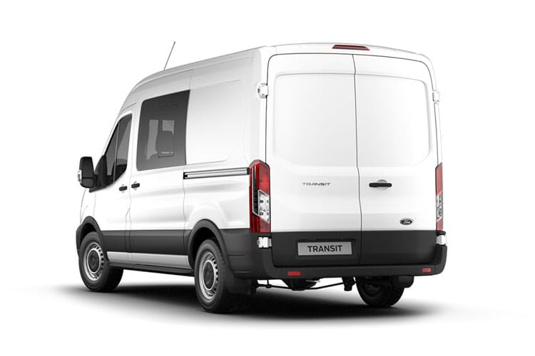 Ford Transit 350 L2 2.0 EcoBlue FWD 130PS Trend Crew Van High Roof Manual [Start Stop] [DCiV] back view