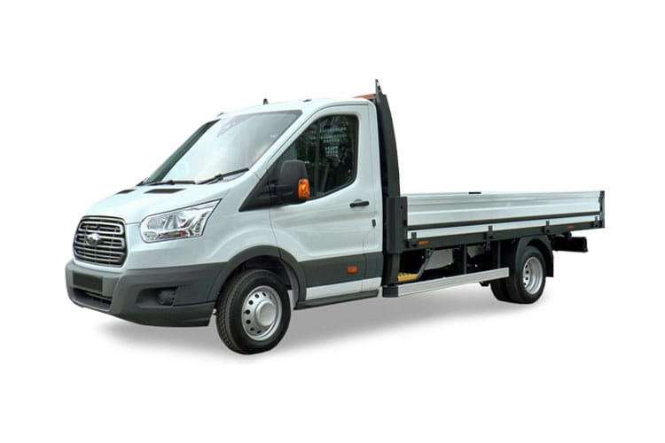 Ford Transit 350HD L3 RWD 2.0 EcoBlue DRW 170PS Leader Premium Dropside Auto [Start Stop] front view