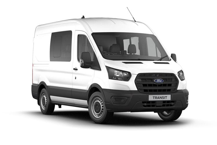 Ford Transit 350 L2 2.0 EcoBlue FWD 130PS Trend Crew Van High Roof Manual [Start Stop] [DCiV] front view